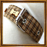 Dog Collar & Lead Sets Tweed Dog Collar & Lead by Prediletto - Prince & Princess Designer Petwear