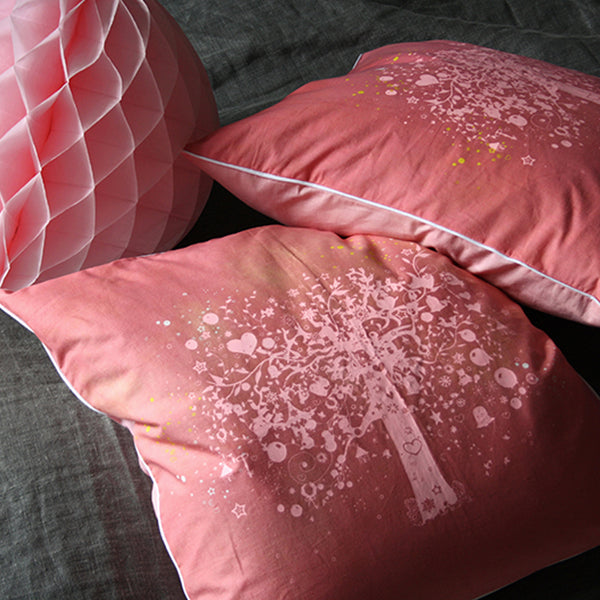 the old oak pillow pink