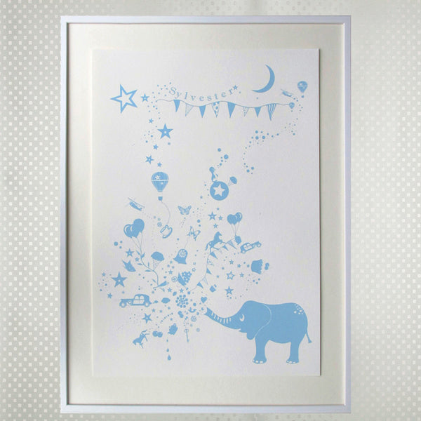 the elephant spray blue