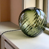 swirl table lamp olive