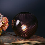swirl table lamp violet