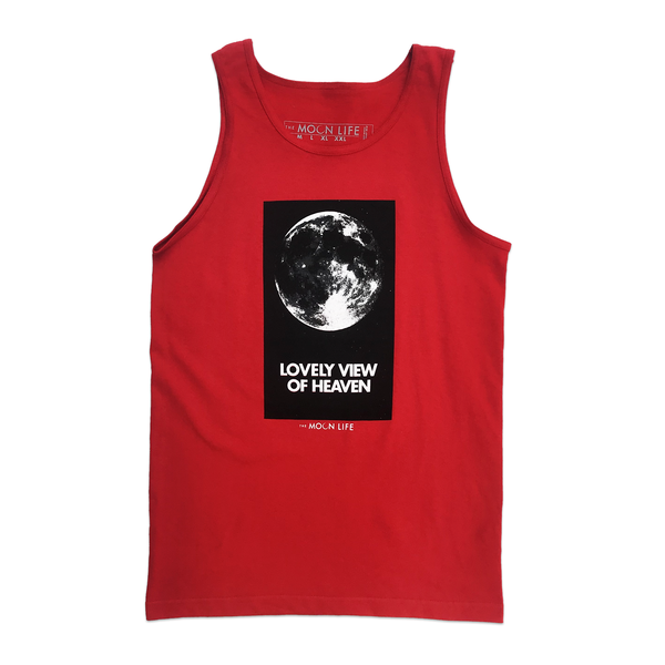 """Standing on the Moon"" • Tank Top • Red"