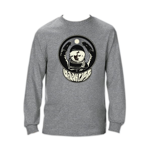 """Moon Man"" • Long sleeve shirt • Graphite Heather"
