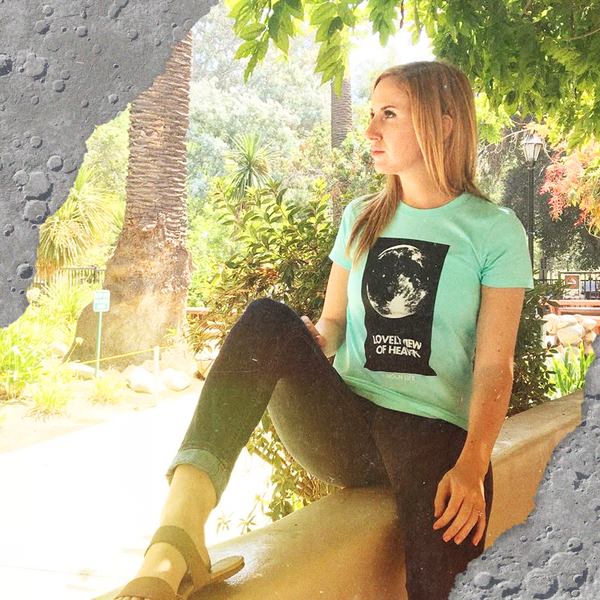 """Standing on the Moon"" • Ladies 'Boyfriend' tee •  Celadon"
