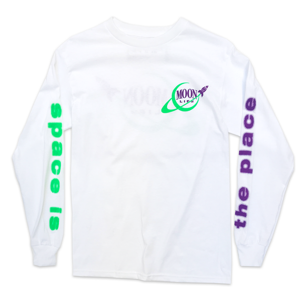 """Space Ways"" • Long Sleeve Shirt • White"