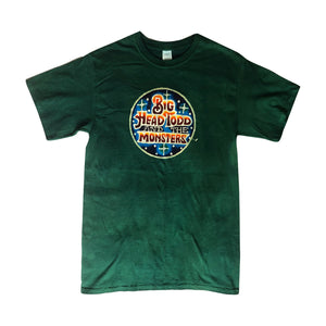 Big Head Todd and the Monsters Green Batik Tee