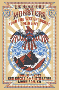 Red Rocks 2019 Show Poster