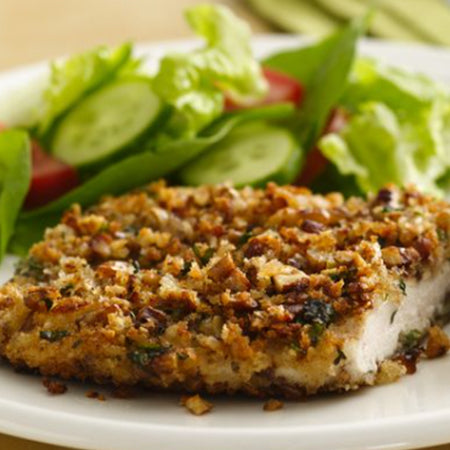 Pecan encrusted chicken breasts