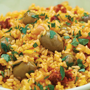 Saffron Rice with Olives