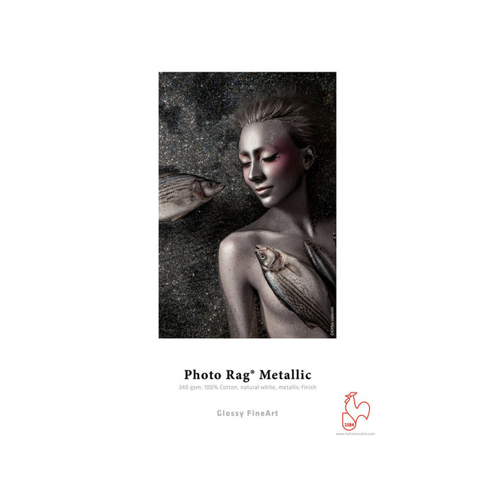 Papel Hahnemühle Photo Rag® Metallic 340gr rollo de 12m