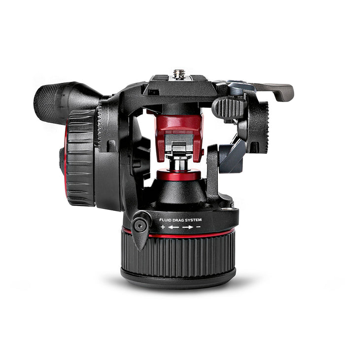 Kit de cabeza fluida Manfrotto MVKN8CTALL Nitrotech N8 de video con tripie 536