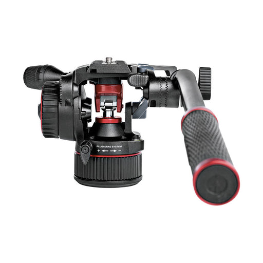 Kit de cabeza fluida Manfrotto MVKN8TWING Nitrotech N8 de video con tripie 546GB