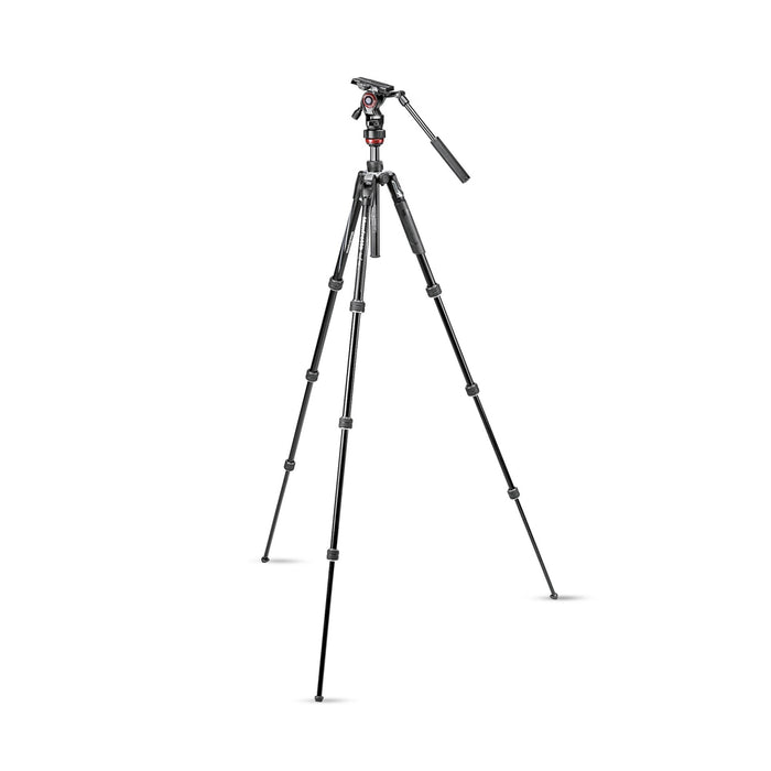 Kit de tripie Manfrotto MKBFRTA4RD-BH Befree Advanced con Twistlock y cabeza de bola rojo