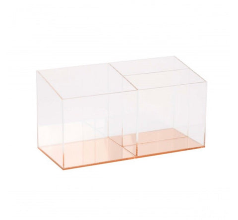 Acrylic rose gold desk top organizer