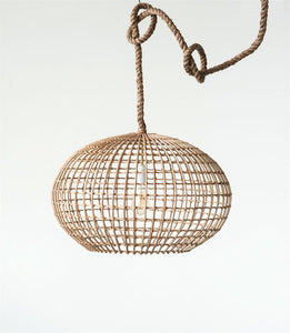 Wicker pendant light.