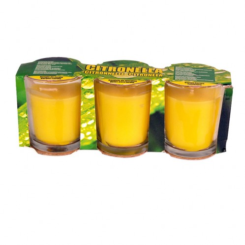 3 Pack Citronella Garden Candles