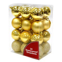 24 pack Shatterproof Ornaments
