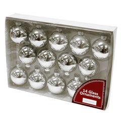14 pack Glass Ornaments