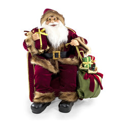 "24"" Santa Sitting with Gifts"