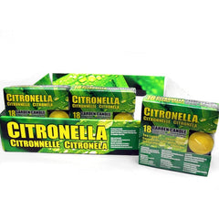 18 Count Citronella Garden Candles