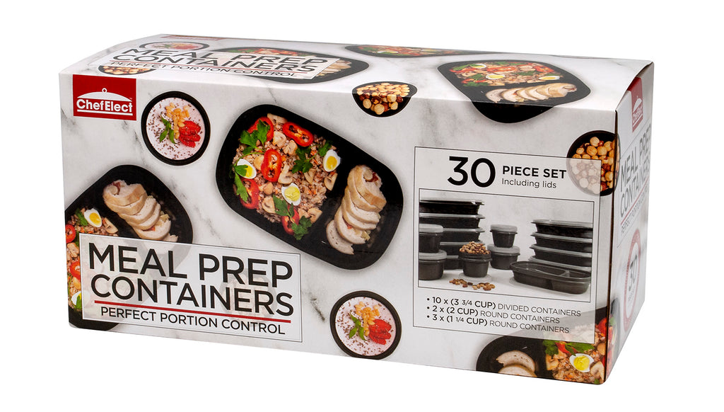 ChefElect 30 piece Meal Prep Container Set