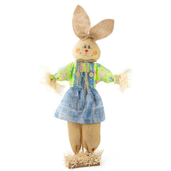 "31.5"" Standing Bunny Scarecrow"