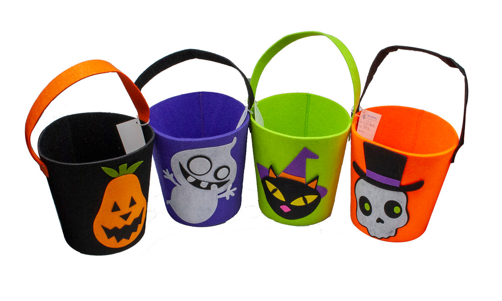 Halloween Felt Trick or Treat Bucket