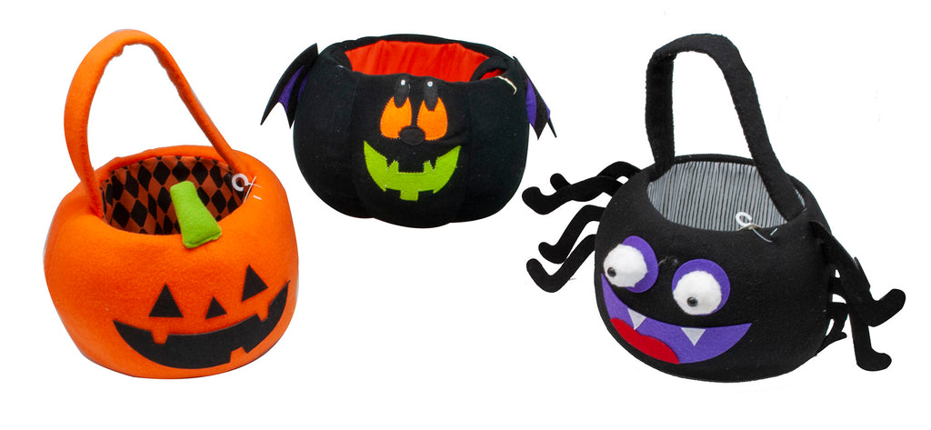 Halloween Plush Pumpkin Bucket