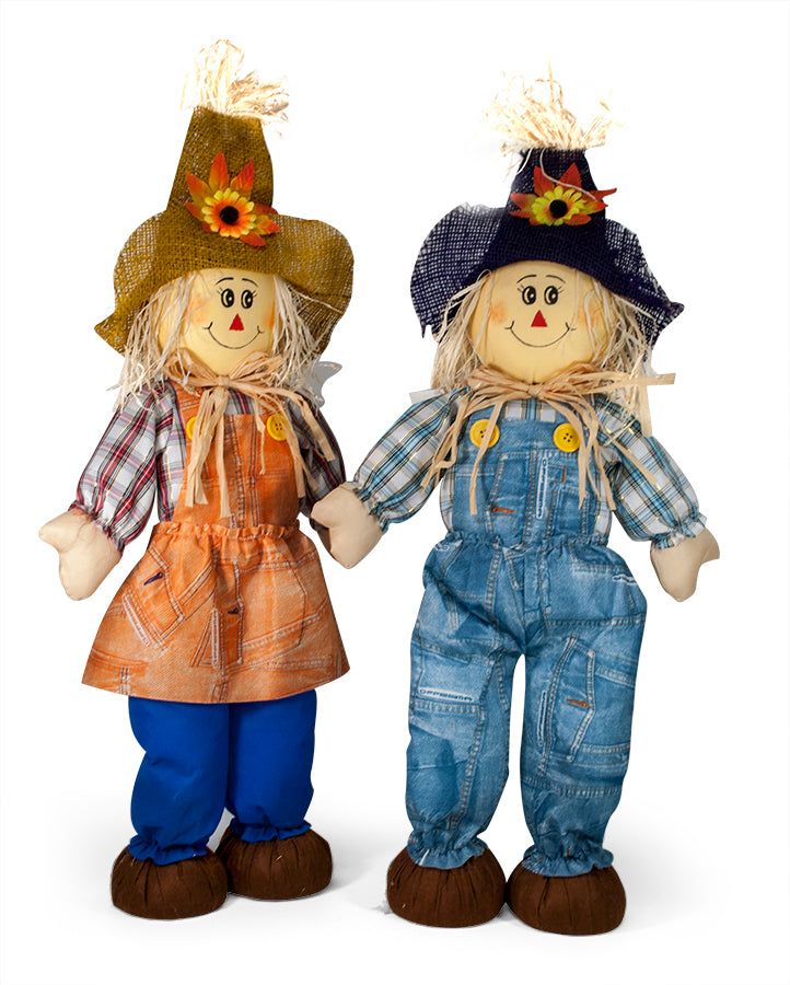 "26"" Scarecrow in Plaid"