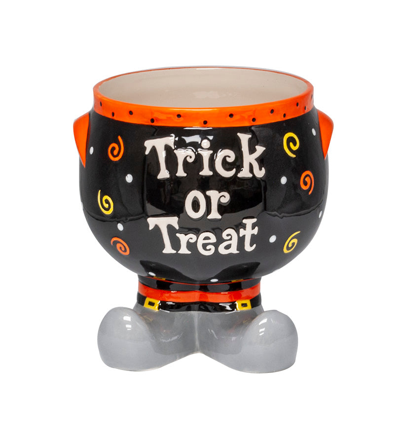 Ceramic Trick or Treat Candy Jar