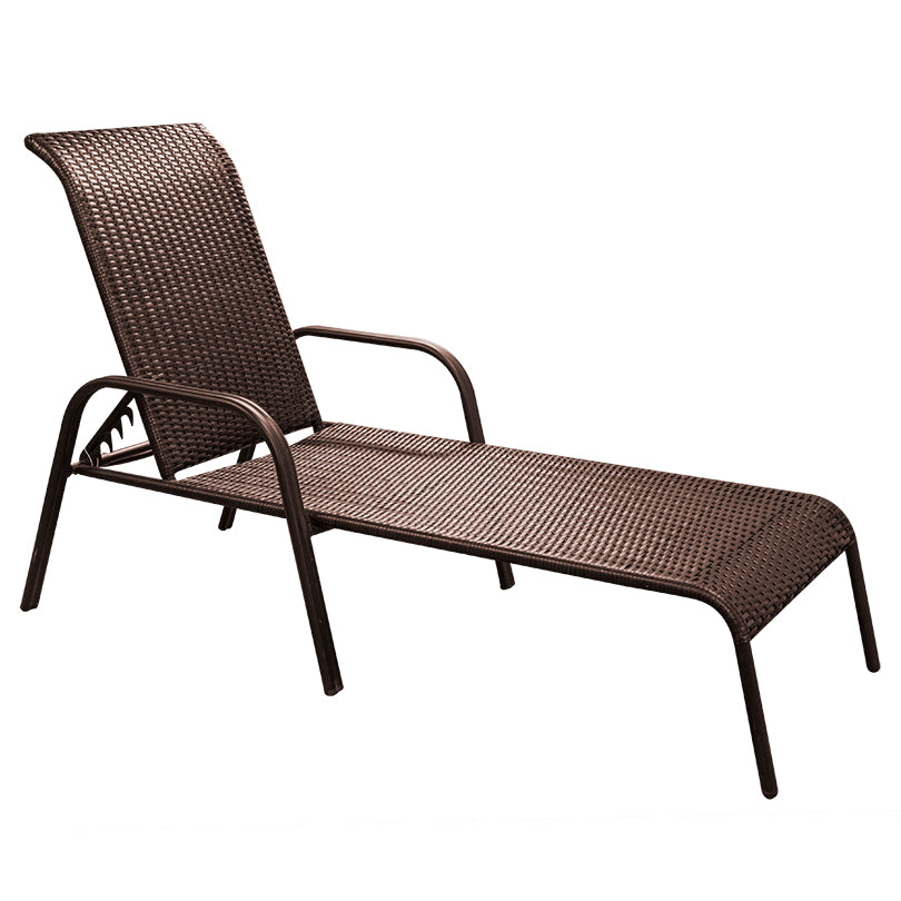 Aluminium Wicker Lounger