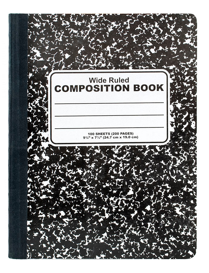 100 Sheets Black Composition Book