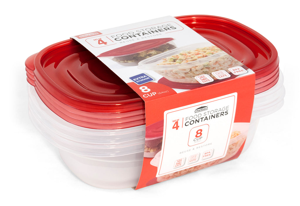 ChefElect 4 pack 64oz Food Container Set