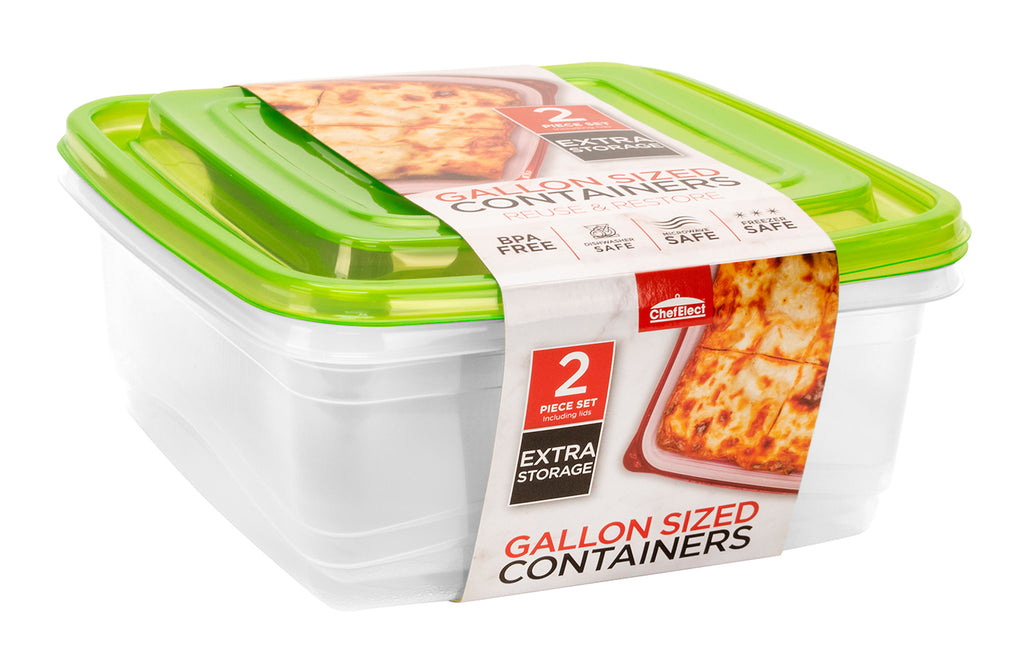 ChefElect 2 pack 128oz Food Container