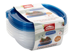 ChefElect 4 pack 23oz Square Food Container
