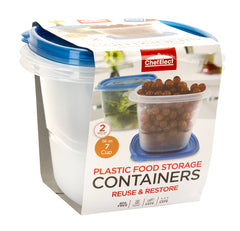 ChefElect 2 pack 56oz Square Food Storage