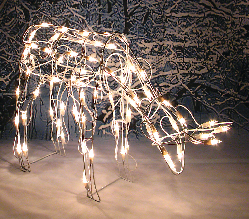 "26"" Lighted Feeding Reindeer [doe]"