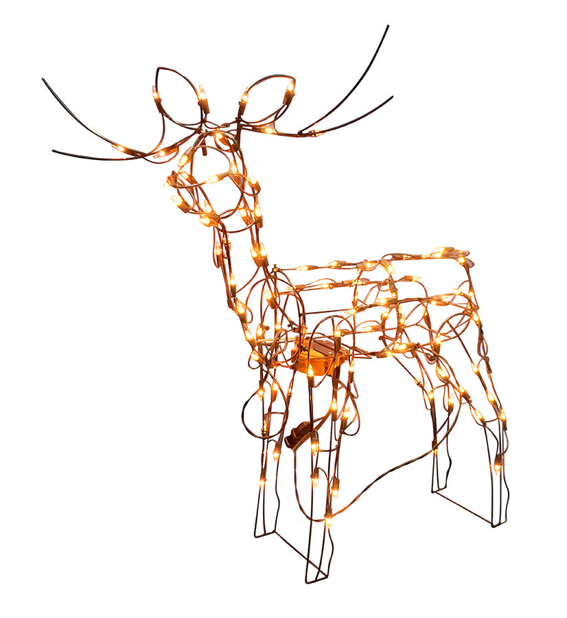 "36"" Animated Standing Reindeer [buck]"