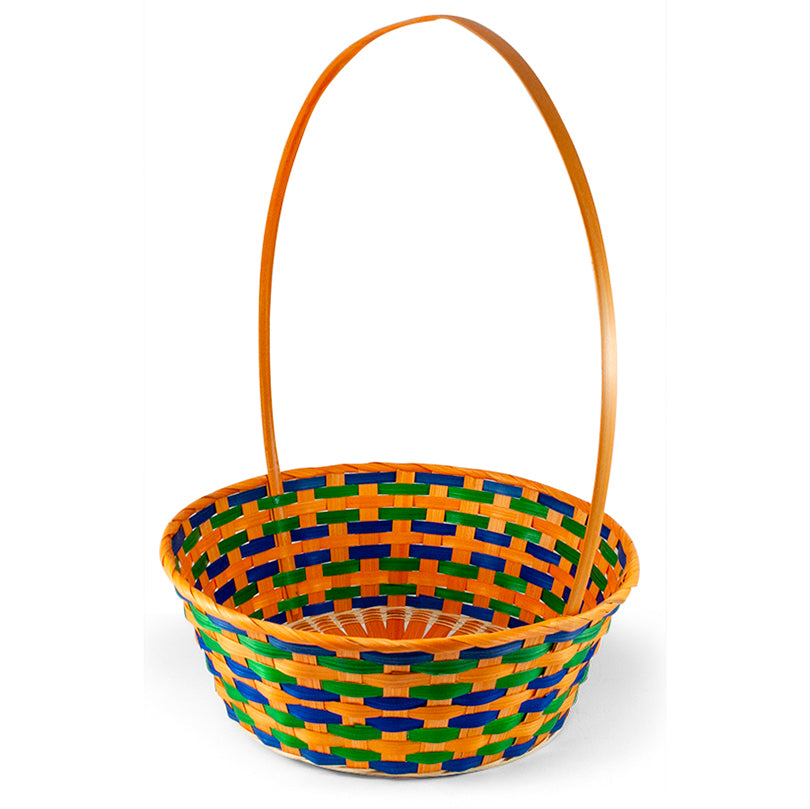 Round Bamboo Easter Basket