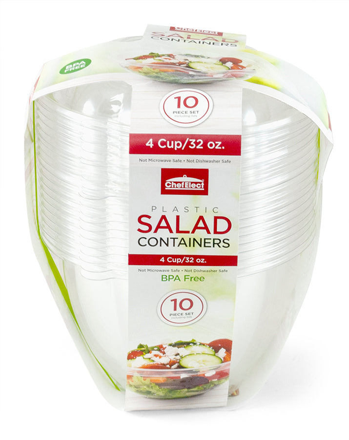 ChefElect 10 pack 32oz Salad Container