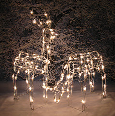 Lighted Reindeer Set [buck & doe]