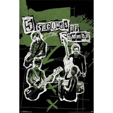 5 Seconds Of Summer Live Collage Wall Poster