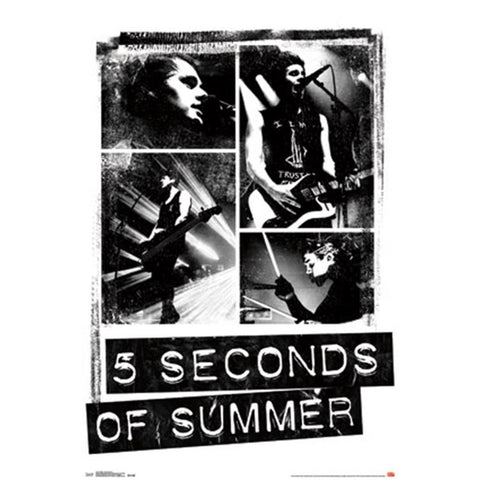 5 Seconds Of Summer Photo Blocks Wall Poster