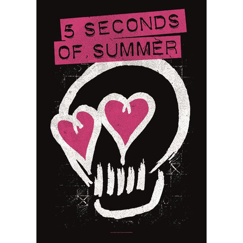 5 Seconds of Summer Skull Love Fabric Poster