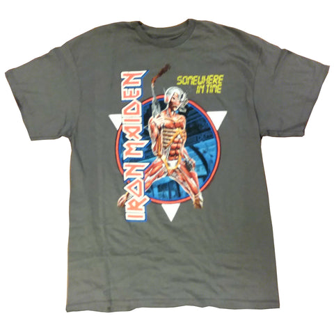 Iron Maiden Somewhere in Time Vintage Circle Men's T-Shirt