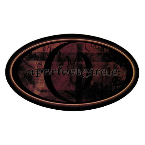 A Perfect Circle Brown Logo Oval Sticker