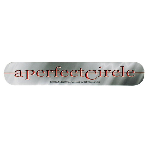 A Perfect Circle Embossed Sticker