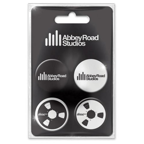 Beatles Abbey Road Studios Logo Plastic Button Badge Set Magnet