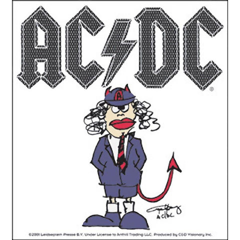 AC/DC Angus Cartoon Sticker