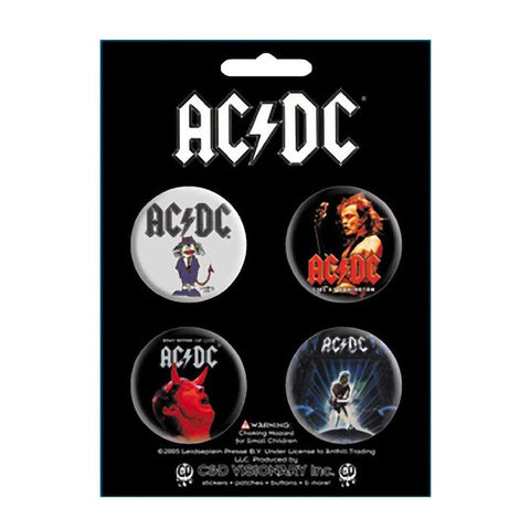 AC/DC Assorted Images Button Set